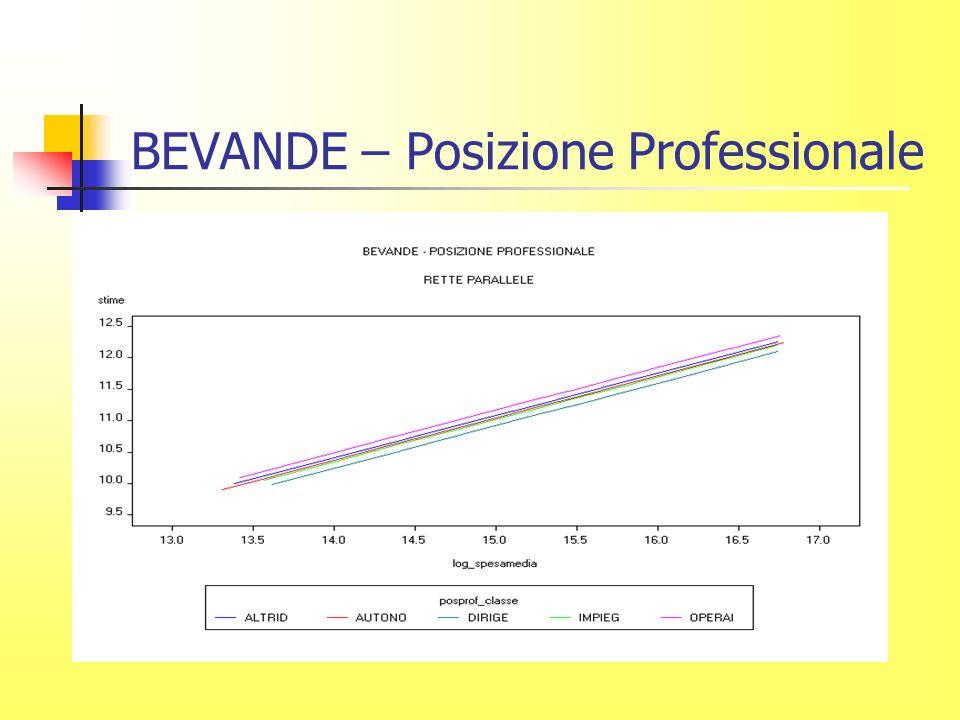 BEVANDE – Posizione Professionale