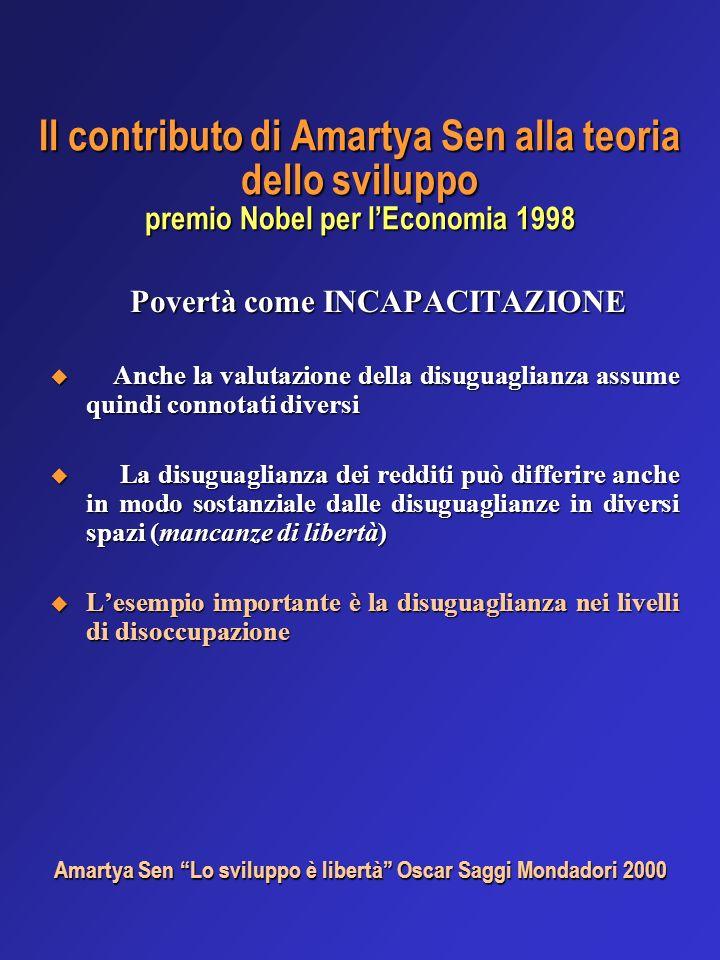 Il contributo di Amartya Sen alla teoria dello sviluppo premio Nobel per lEconomia 1998 Povertà come INCAPACITAZIONE Povertà come INCAPACITAZIONE Anch