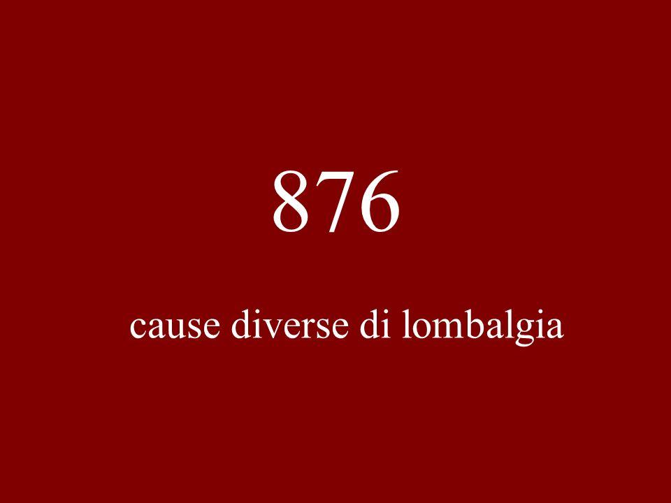 876 cause diverse di lombalgia