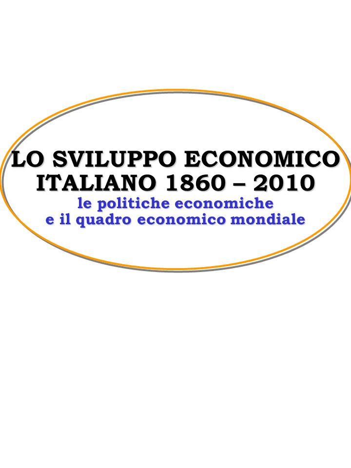 I GRANDI CAMBIAMENTI DELLITALIA DAL 1860 AL 1950 PROCESSO DI INDUSTRIALIZZAZIONE DISEGUAGLIANZE TERRITORIALI MUTAMENTI SETTORIALI E DELLE CLASSI SOCIALI MUTAMENTO DEL QUADRO ECONOMICO INTERNAZIONALE Lo sviluppo economico italiano 1860- 2000 - Corso di politica economica