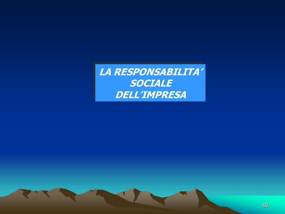 60 LA RESPONSABILITA SOCIALE DELLIMPRESA
