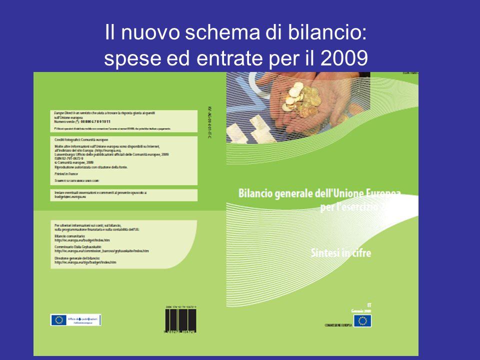Il nuovo schema di bilancio: spese ed entrate per il 2009