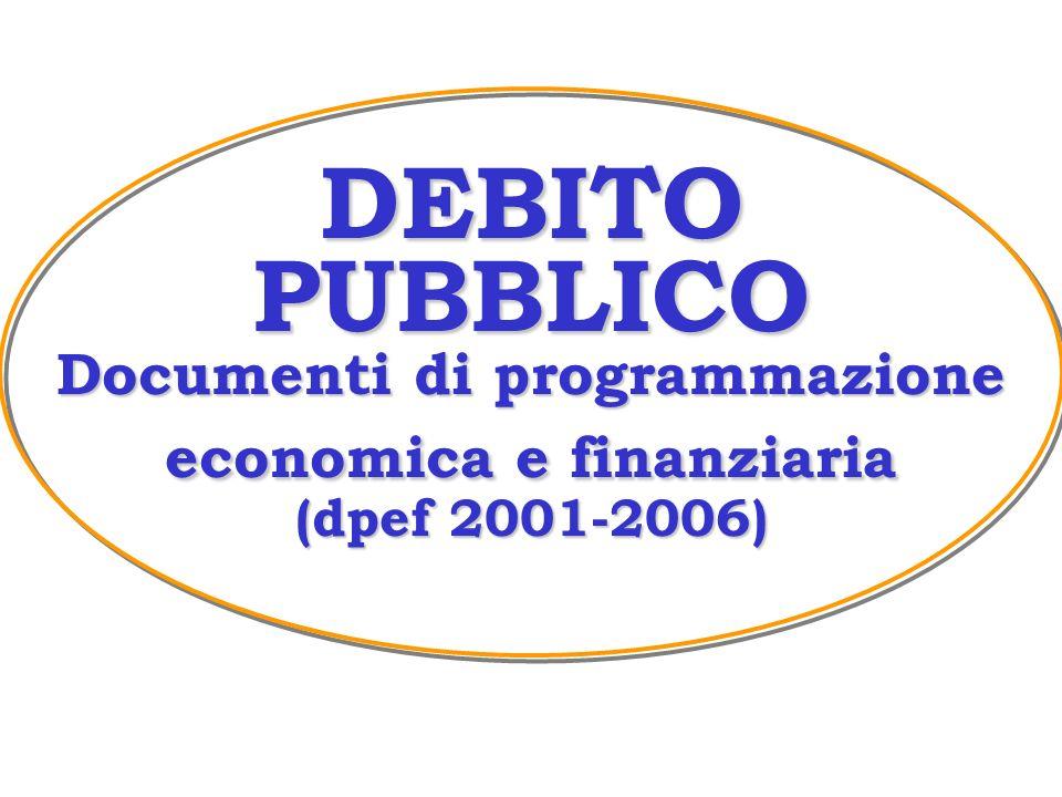 DEBITO PUBBLICO Documenti di programmazione economica e finanziaria (dpef 2001-2006)