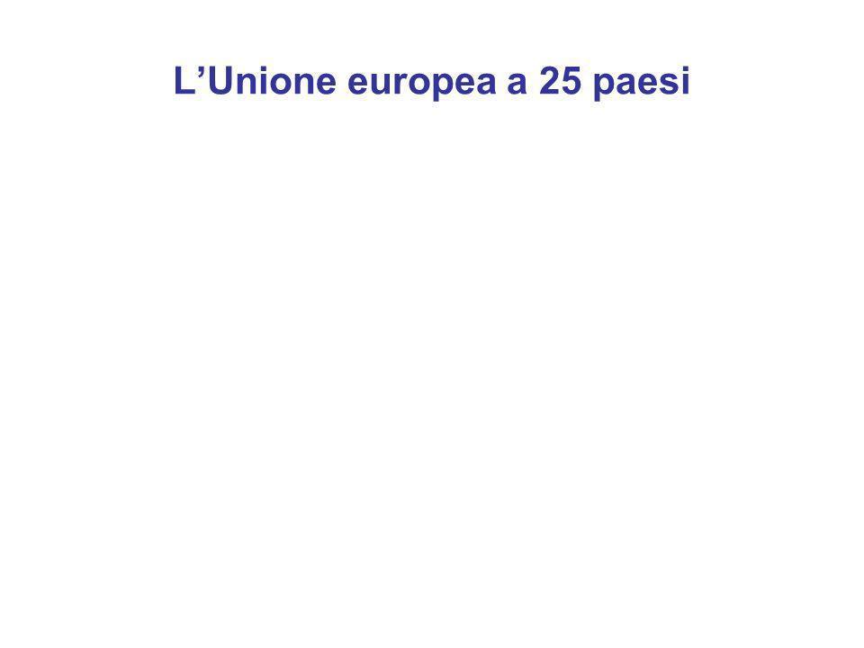 LUnione europea a 25 paesi