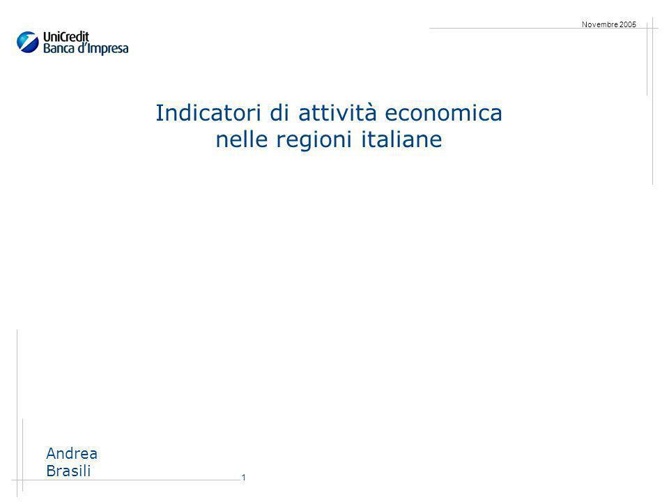 1 Novembre 2005 Indicatori di attività economica nelle regioni italiane Andrea Brasili