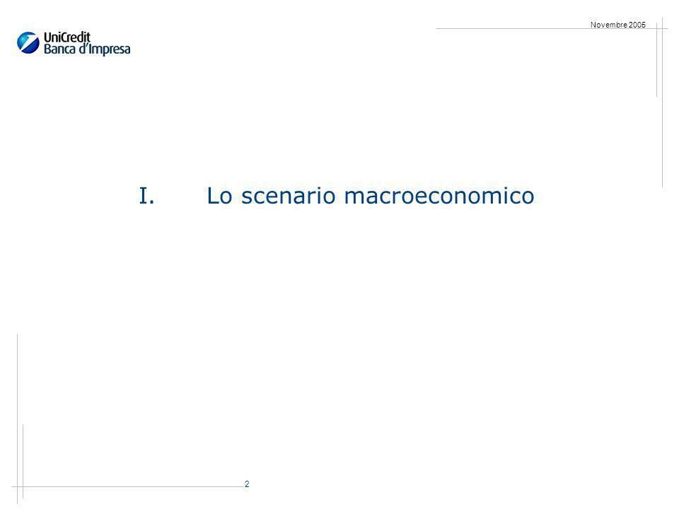 2 Novembre 2005 I.Lo scenario macroeconomico
