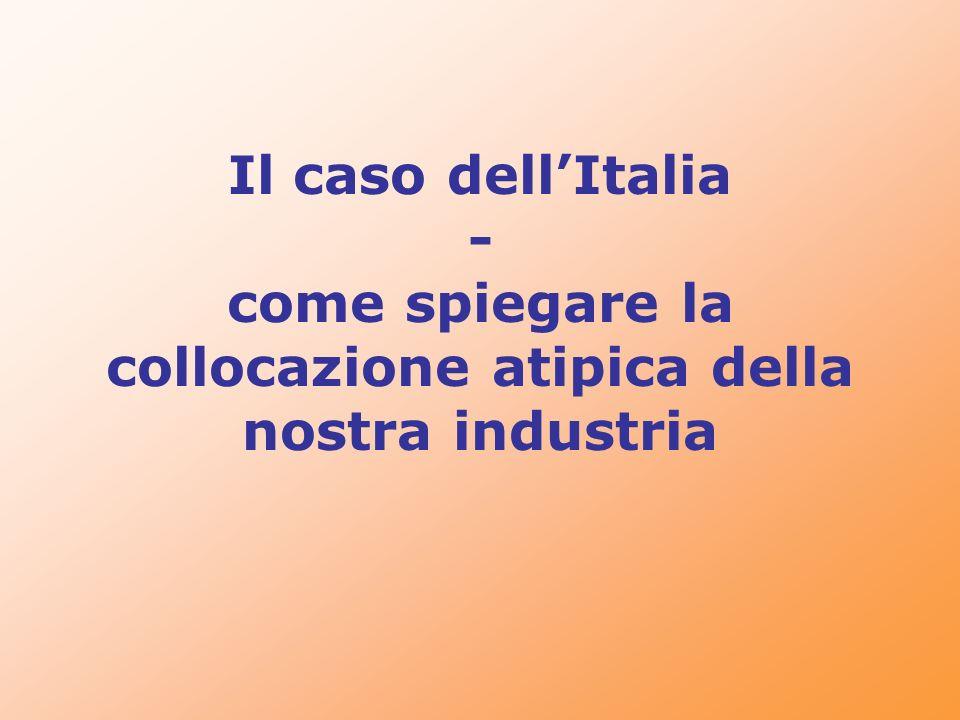 Il caso dellItalia - come spiegare la collocazione atipica della nostra industria