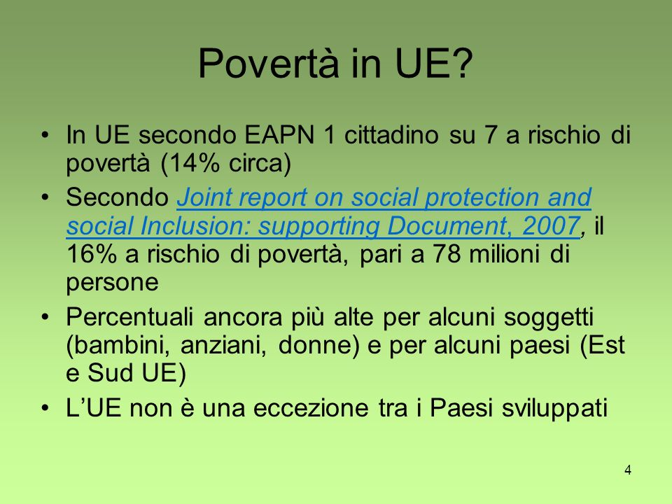 4 Povertà in UE.