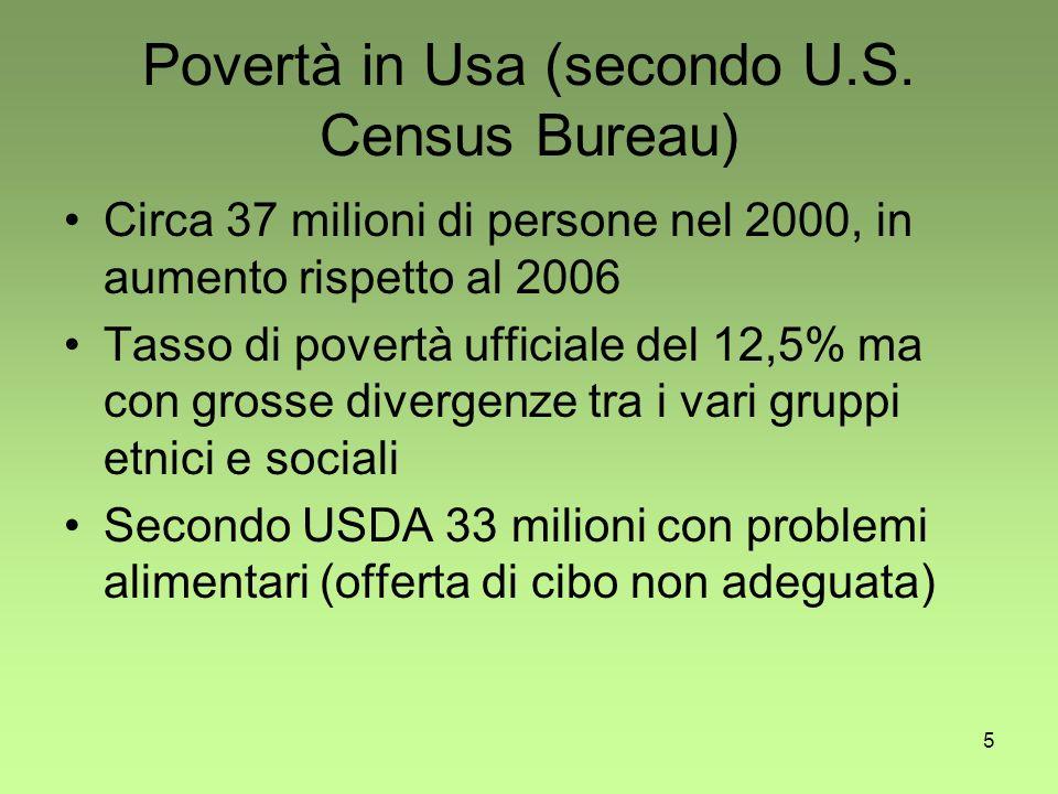 5 Povertà in Usa (secondo U.S.