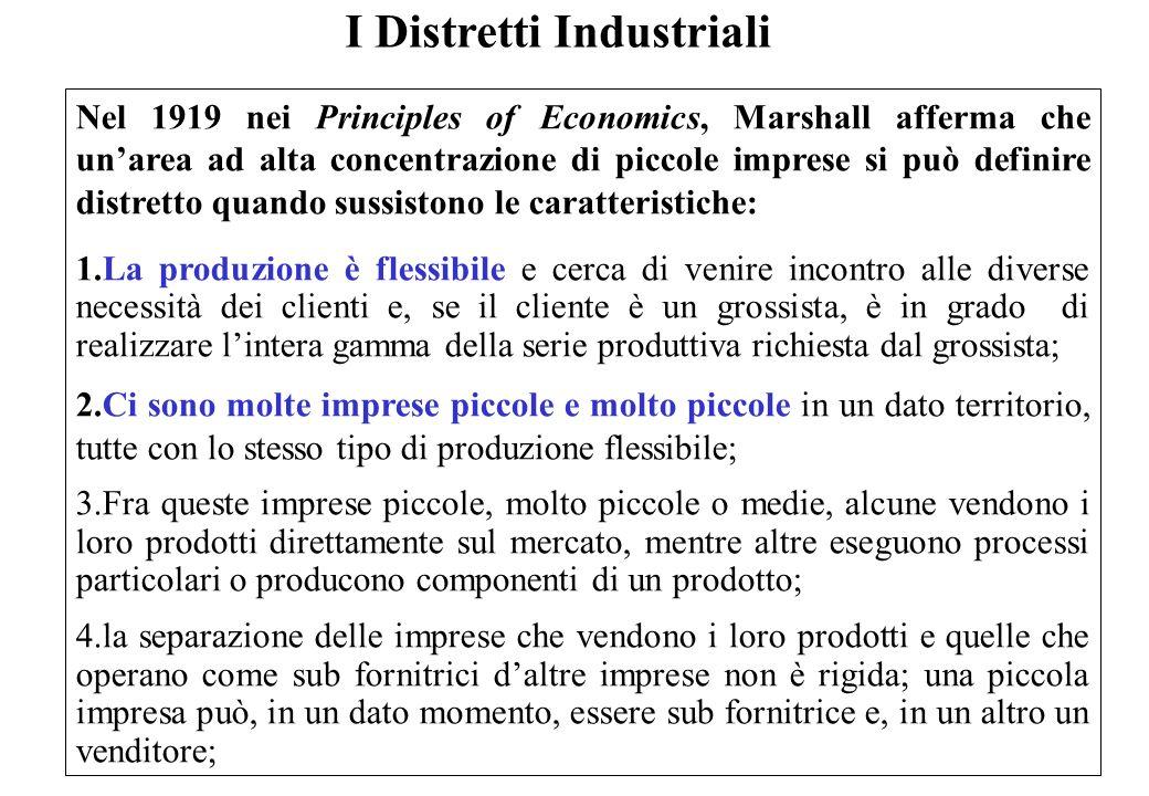 I Distretti Industriali (Continua … Principles of Economics, Marshall) 5.