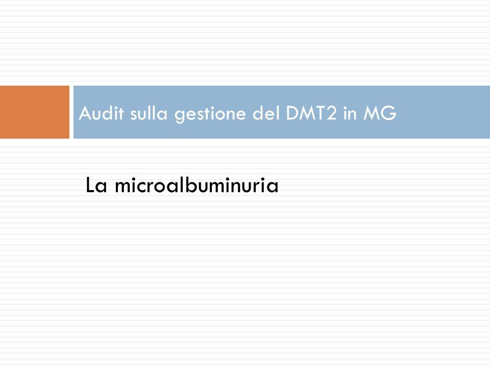 La microalbuminuria Audit sulla gestione del DMT2 in MG