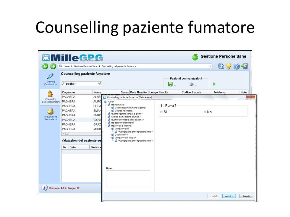 Counselling paziente fumatore