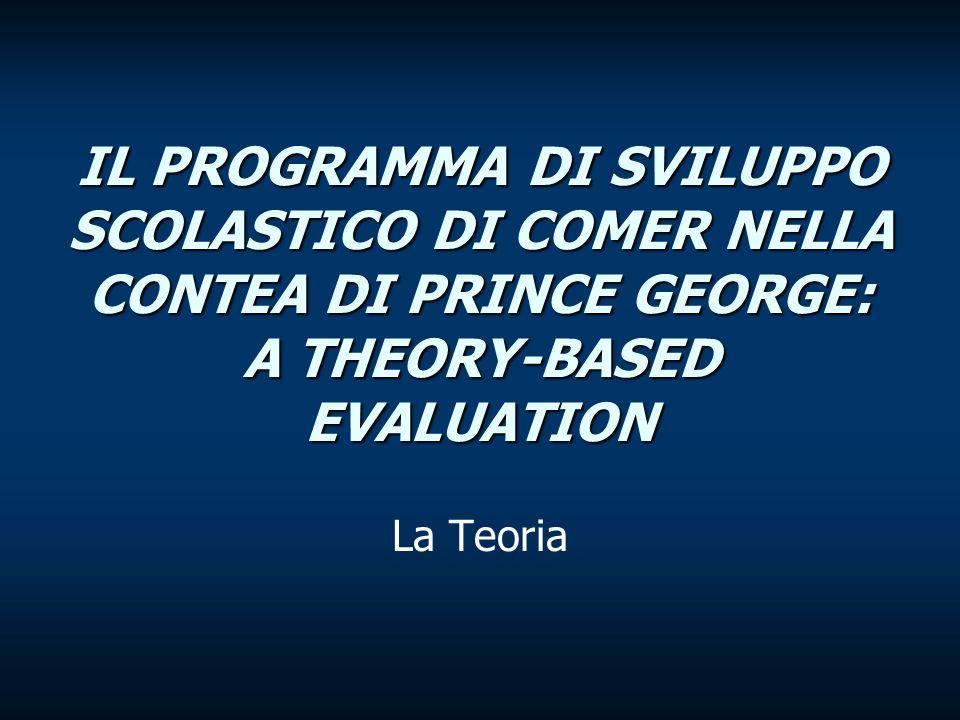 Theory-based evaluation La Theory based-evaluation è un approccio che propone di fondare le attività di valutazione sulla esplicitazione delle teorie del cambiamento che soggiacciono ai diversi programmi dinterventi.