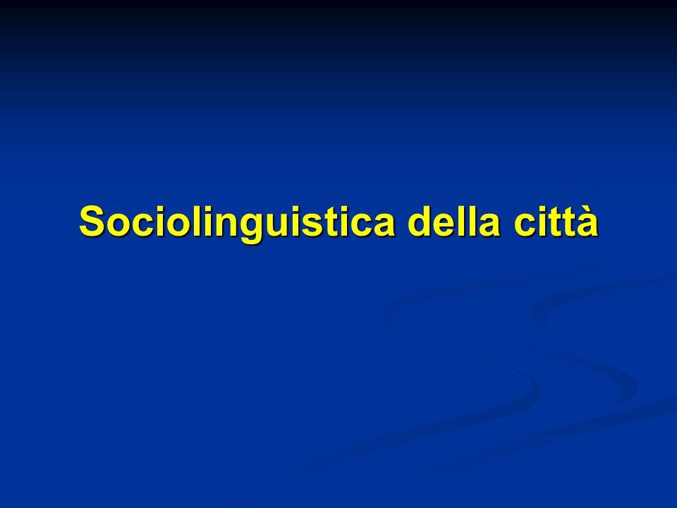 Sociolinguistica della città