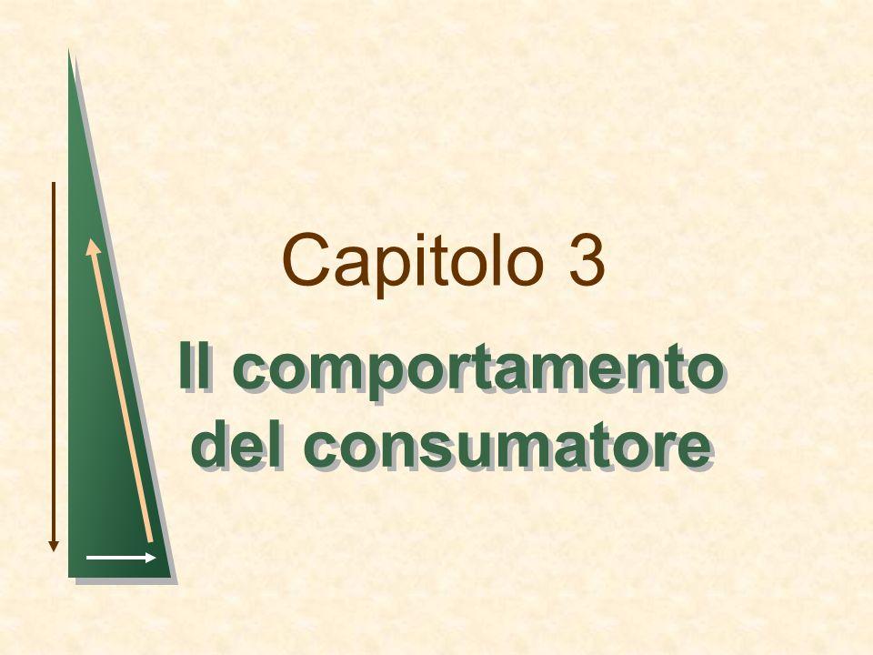 Capitolo 3 Il comportamento del consumatore