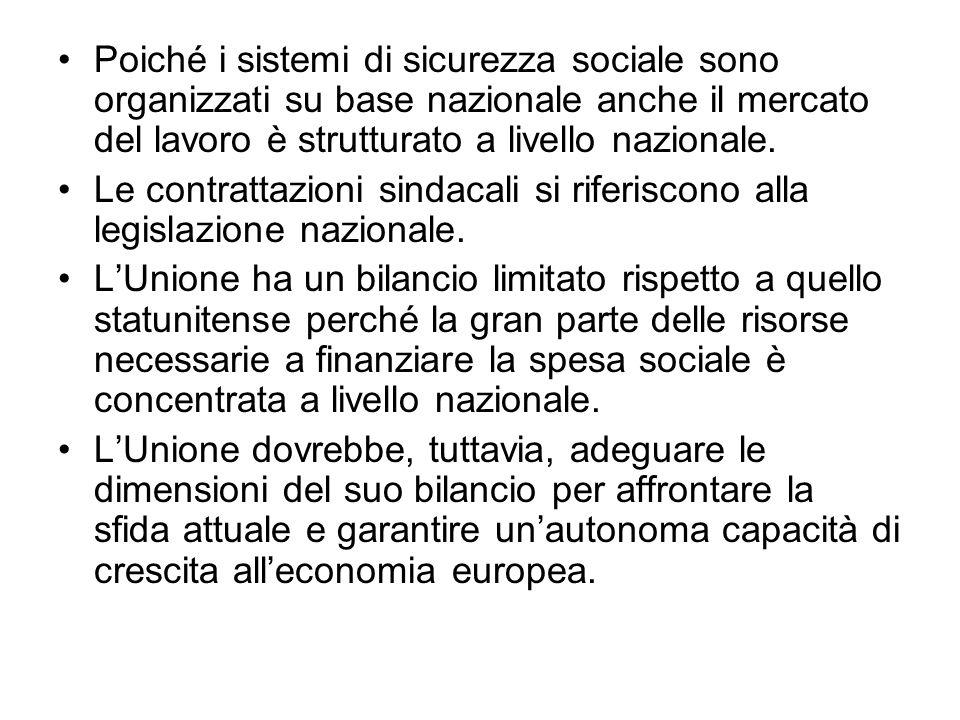 Poiché i sistemi di sicurezza sociale sono organizzati su base nazionale anche il mercato del lavoro è strutturato a livello nazionale.