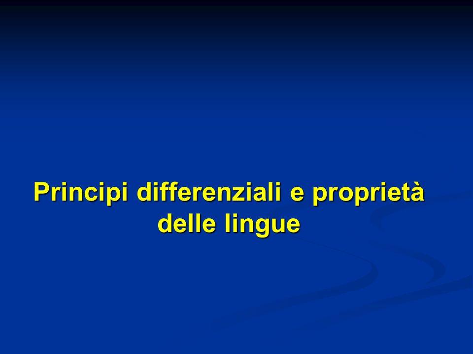 Principi differenziali e proprietà delle lingue