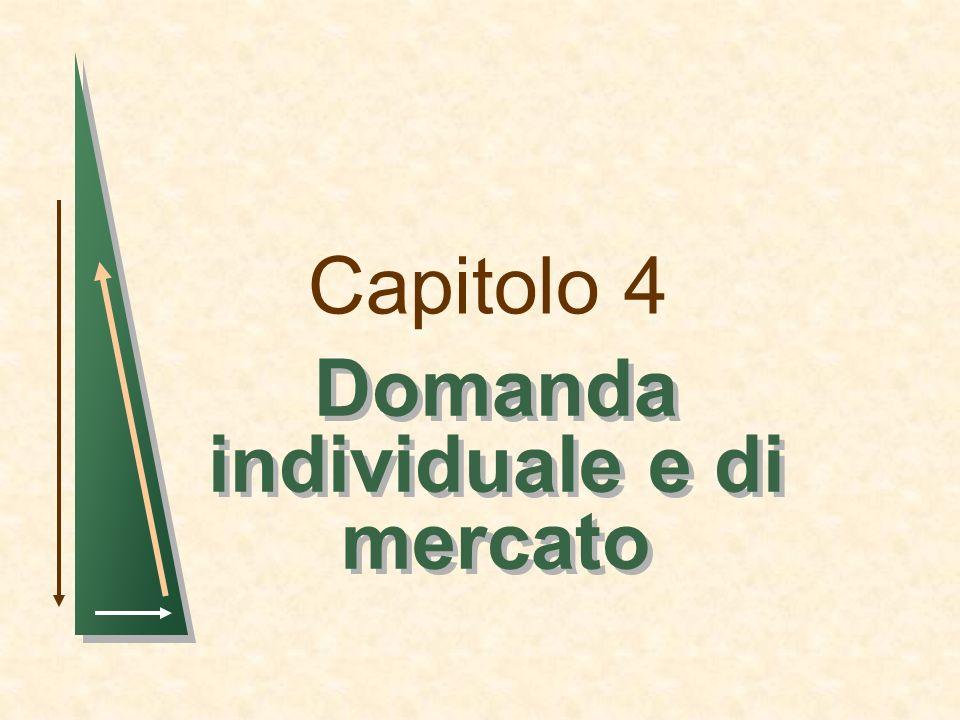 Capitolo 4 Domanda individuale e di mercato