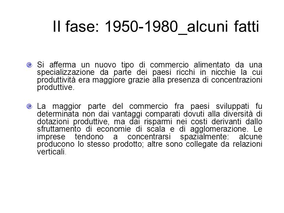 II fase: 1950-1980_alcuni fatti i 2/3 della produzione industriale sono costituiti da beni intermedi, venduti da unimpresa ad unaltra.
