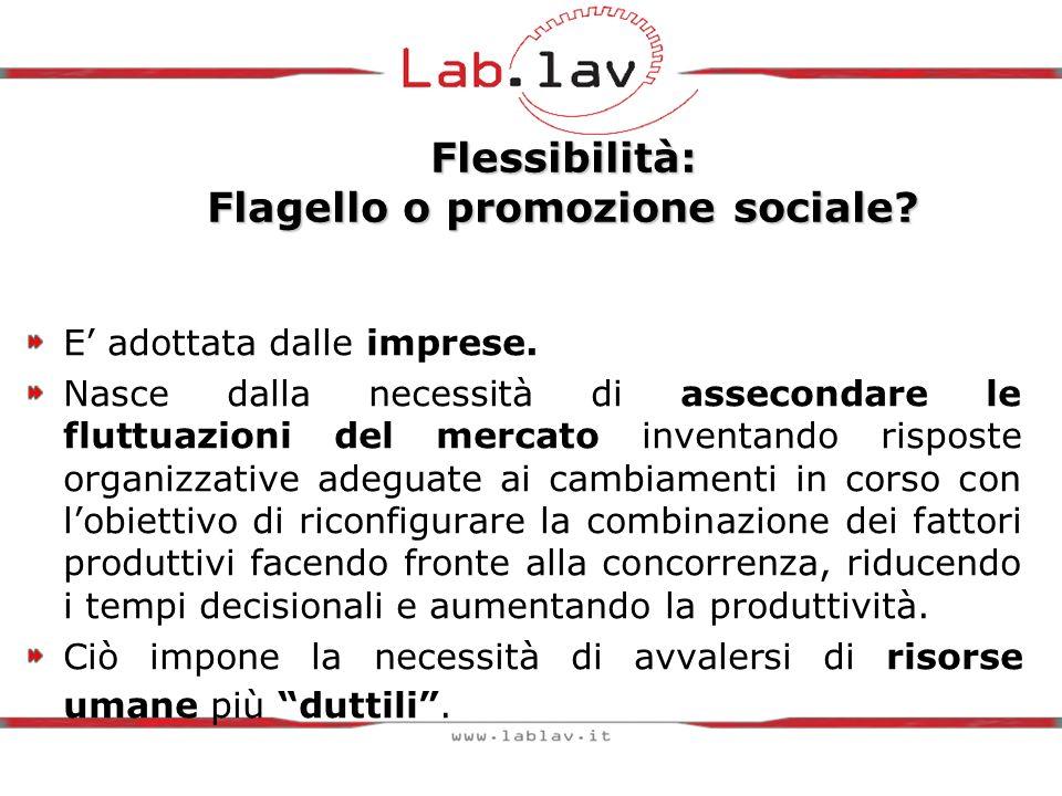 Flessibilità: Flagello o promozione sociale. E adottata dalle imprese.