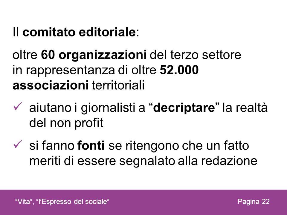 Il comitato editoriale: oltre 60 organizzazioni del terzo settore in rappresentanza di oltre 52.000 associazioni territoriali aiutano i giornalisti a
