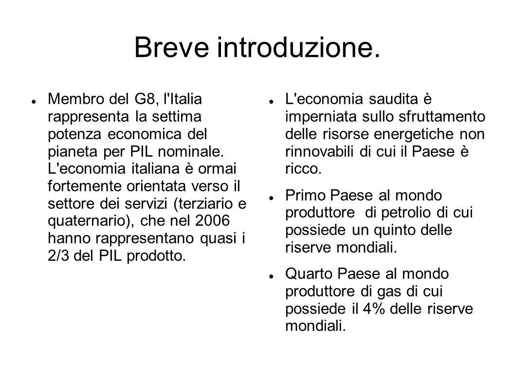 Breve introduzione. Membro del G8, l'Italia rappresenta la settima potenza economica del pianeta per PIL nominale. L'economia italiana è ormai forteme