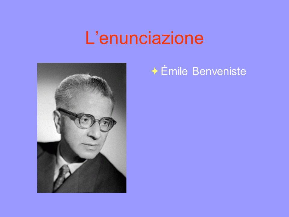 Lenunciazione Émile Benveniste