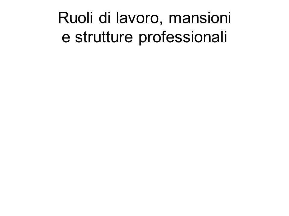 Ruoli di lavoro, mansioni e strutture professionali