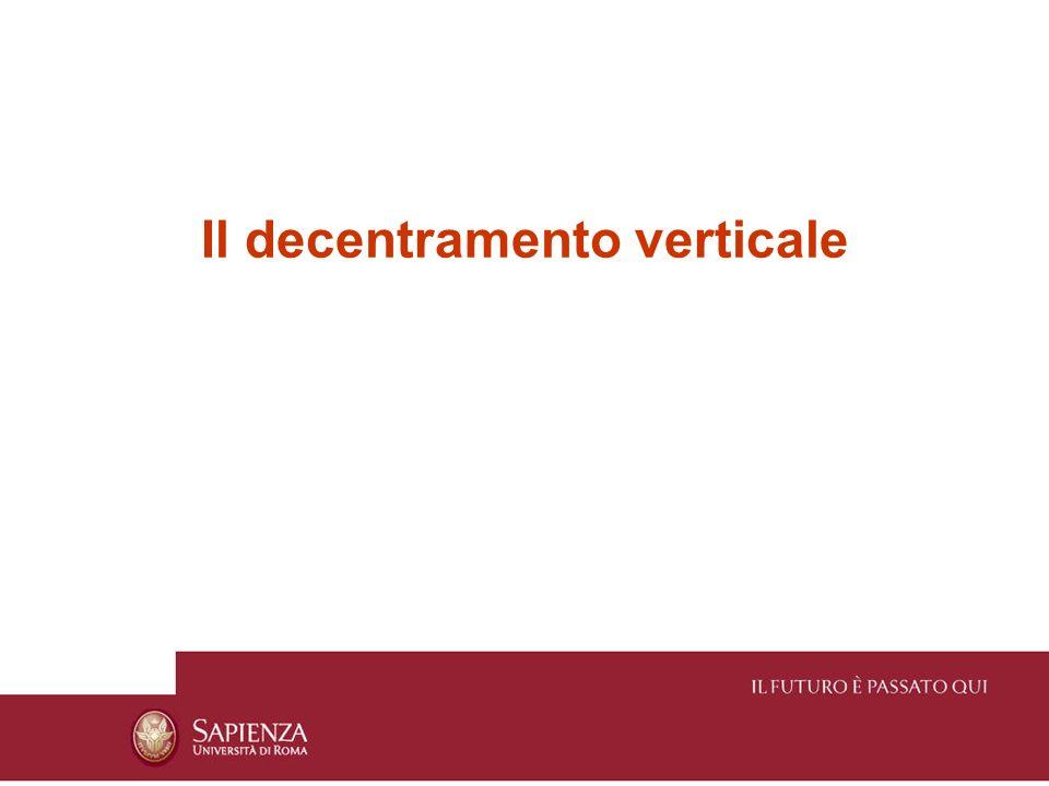 Il decentramento verticale