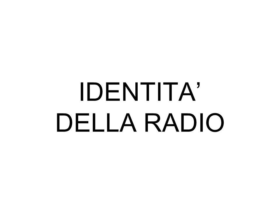 IDENTITA DELLA RADIO