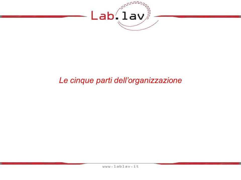 Le parti che compongono lorganizzazione sono 5: