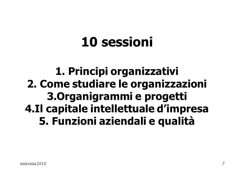 uniroma 2010 3 10 sessioni 1. Principi organizzativi 2.