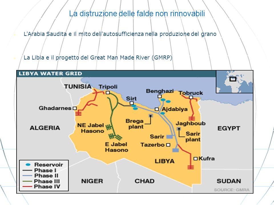 La distruzione delle falde non rinnovabili L'Arabia Saudita e il mito dell'autosufficienza nella produzione del grano La Libia e il progetto del Great