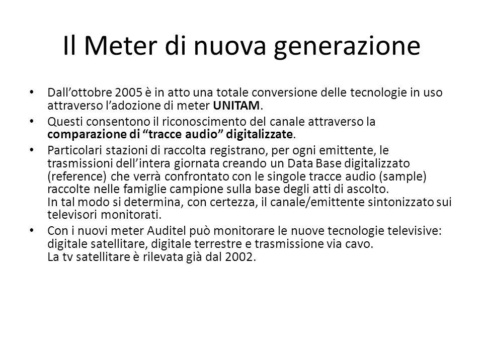 Il Meter di nuova generazione Dallottobre 2005 è in atto una totale conversione delle tecnologie in uso attraverso ladozione di meter UNITAM.