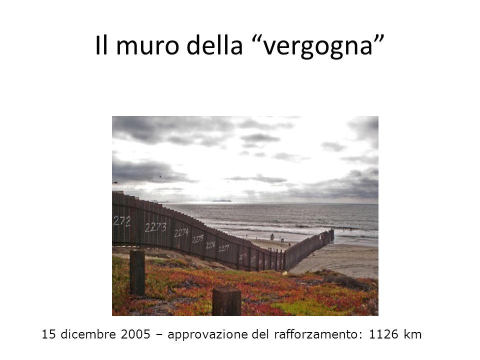 Il muro della vergogna 15 dicembre 2005 – approvazione del rafforzamento: 1126 km