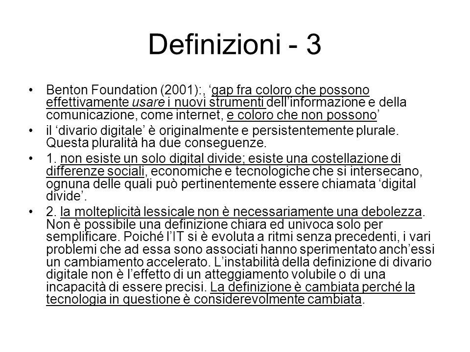 Struttura A prescindere da come venga definito, il digital divide organizza le cose in due tipi dialetticamente opposti.