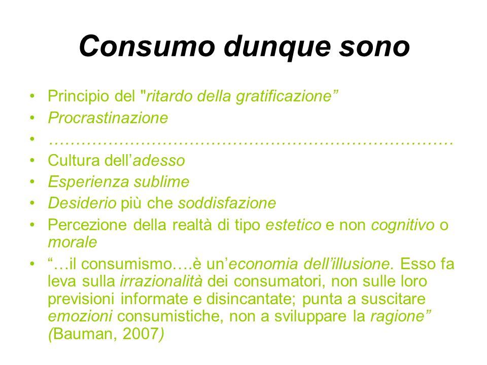 Consumo dunque sono Principio del