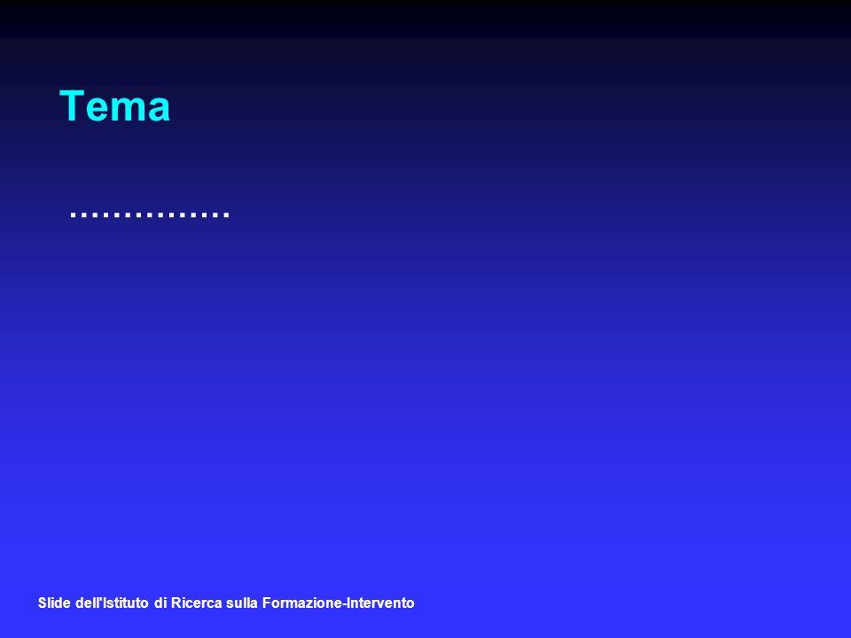 Slide dell Istituto di Ricerca sulla Formazione-Intervento Tema ……………