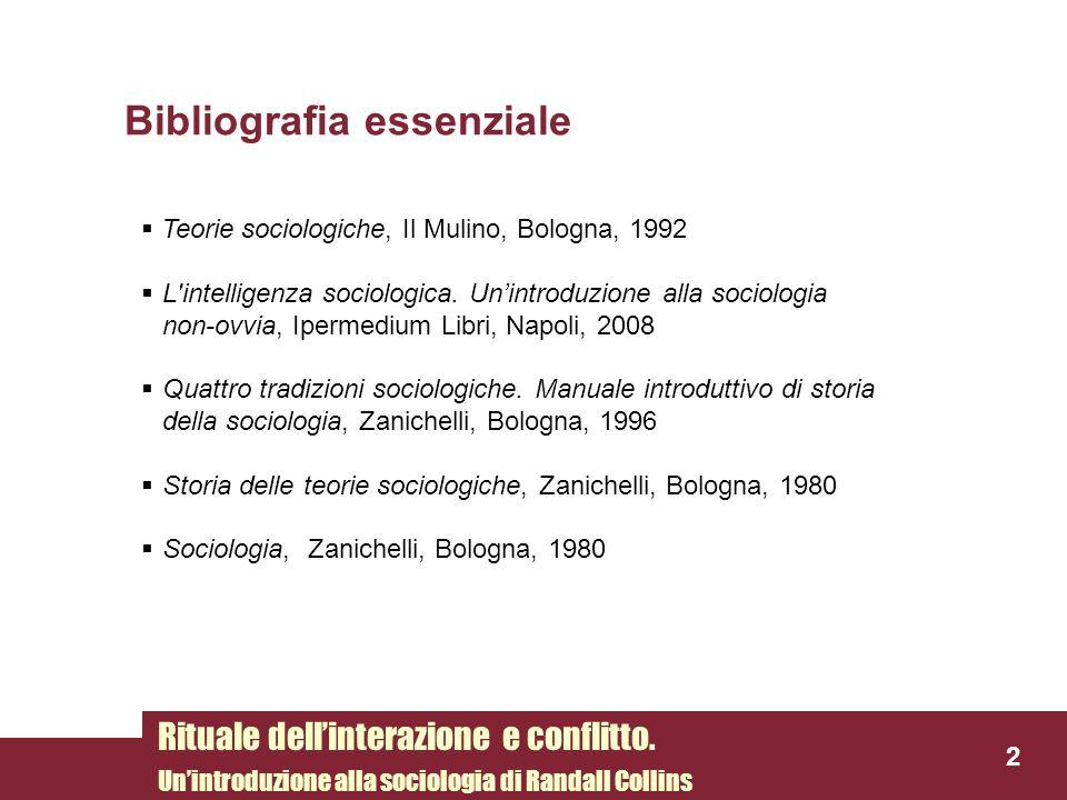 Teorie sociologiche, Il Mulino, Bologna, 1992 L'intelligenza sociologica. Unintroduzione alla sociologia non-ovvia, Ipermedium Libri, Napoli, 2008 Qua