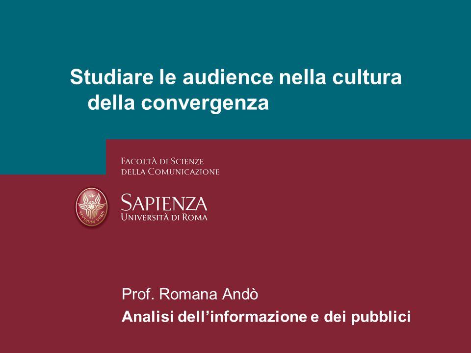 Audience e pubblico come rappresentazione.