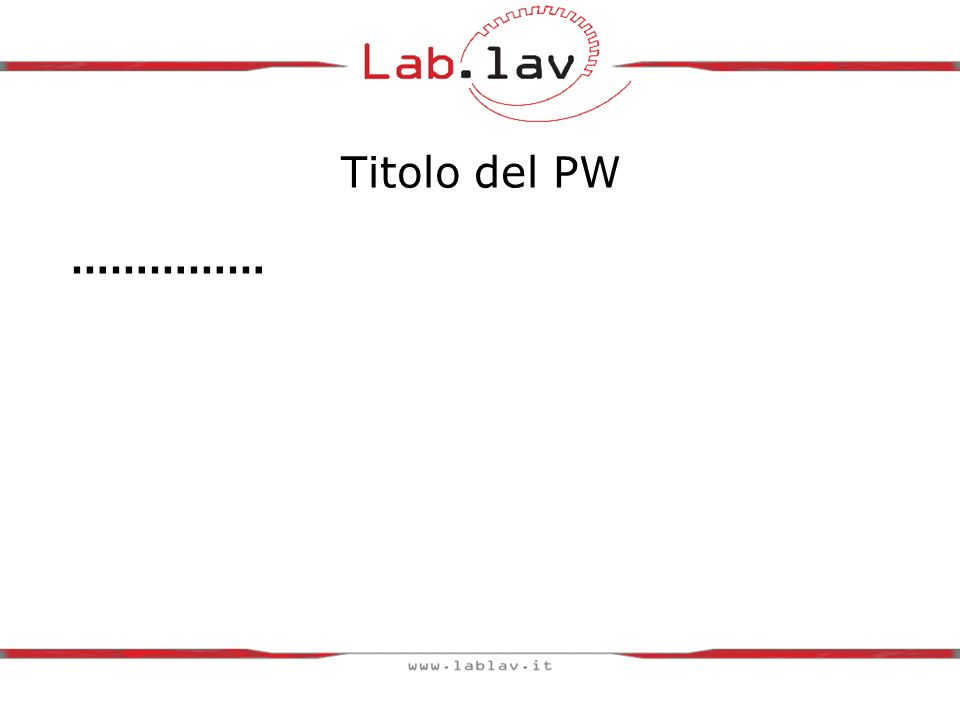 Titolo del PW ……………