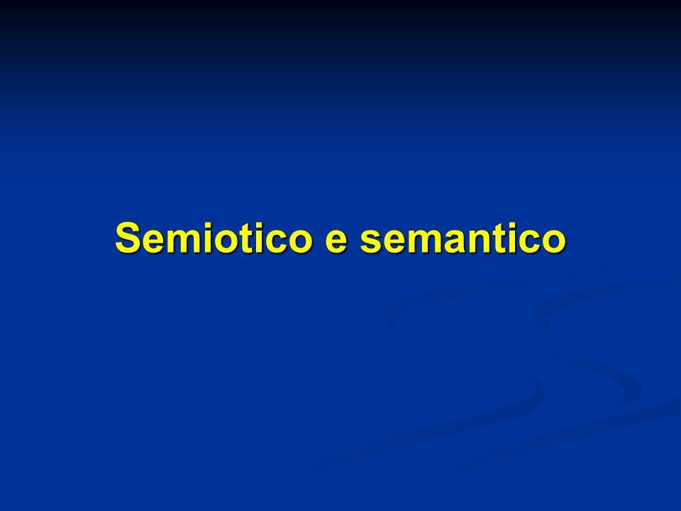 La semantica di impostazione strutturalista La semantica è vista come una dimensione autonoma rispetto ad ogni dimensione esterna al sistema (antireferenzialismo) La semantica è vista come una dimensione autonoma rispetto ad ogni dimensione esterna al sistema (antireferenzialismo) La semantica si distingue anche dalla dimensione introspettivo-psicologica che aveva caratterizzato limpostazione pre-strutturalista del problema (antipsicologismo) La semantica si distingue anche dalla dimensione introspettivo-psicologica che aveva caratterizzato limpostazione pre-strutturalista del problema (antipsicologismo) Il significato di un termine non ha come contropartita un oggetto extralinguistico o unentità psicologica, ma tutti gli altri termini del sistema, dai quali si differenzia.