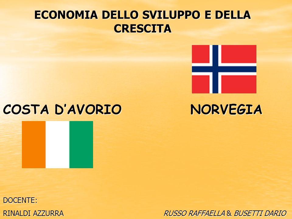 NORVEGIA: Reddito pro capite: 95.062 $ Settore dominante: Servizi (57%) Paese idealizzatore HDI: 1° posto SISTEMA SVILUPPATO