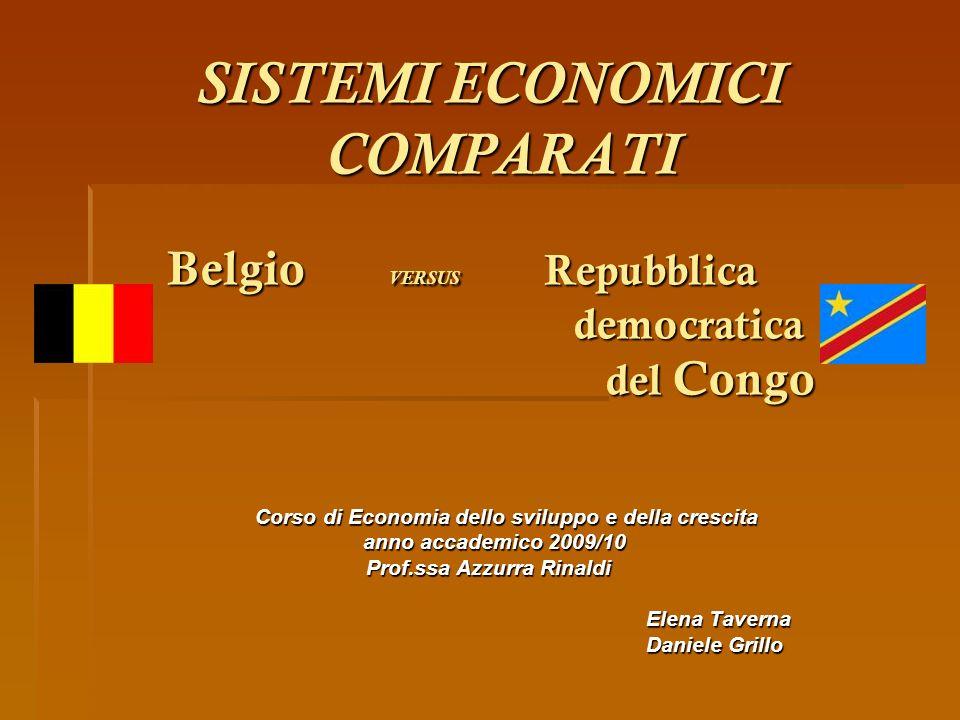 SISTEMI ECONOMICI COMPARATI Belgio VERSUS Repubblica democratica del Congo SISTEMI ECONOMICI COMPARATI Belgio VERSUS Repubblica democratica del Congo
