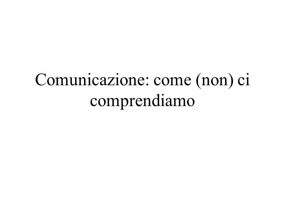 Comunicazione: come (non) ci comprendiamo