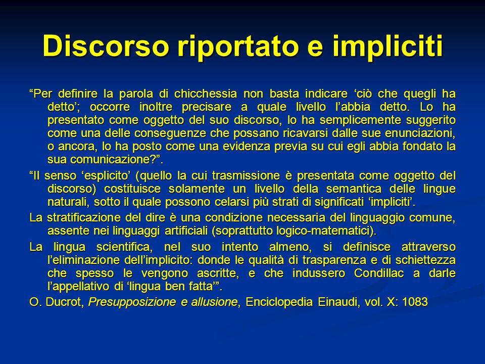 Relative non restrittive Gerarchia di importanza tra le informazioni: alcune informazioni sono marginalizzate, messe tra parentesi (frasi relative non restrittive).