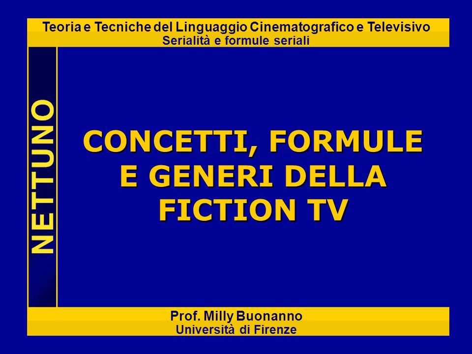 Teoria e Tecniche del Linguaggio Cinematografico e Televisivo Serialità e formule seriali Prof. Milly Buonanno Università di Firenze CONCETTI, FORMULE