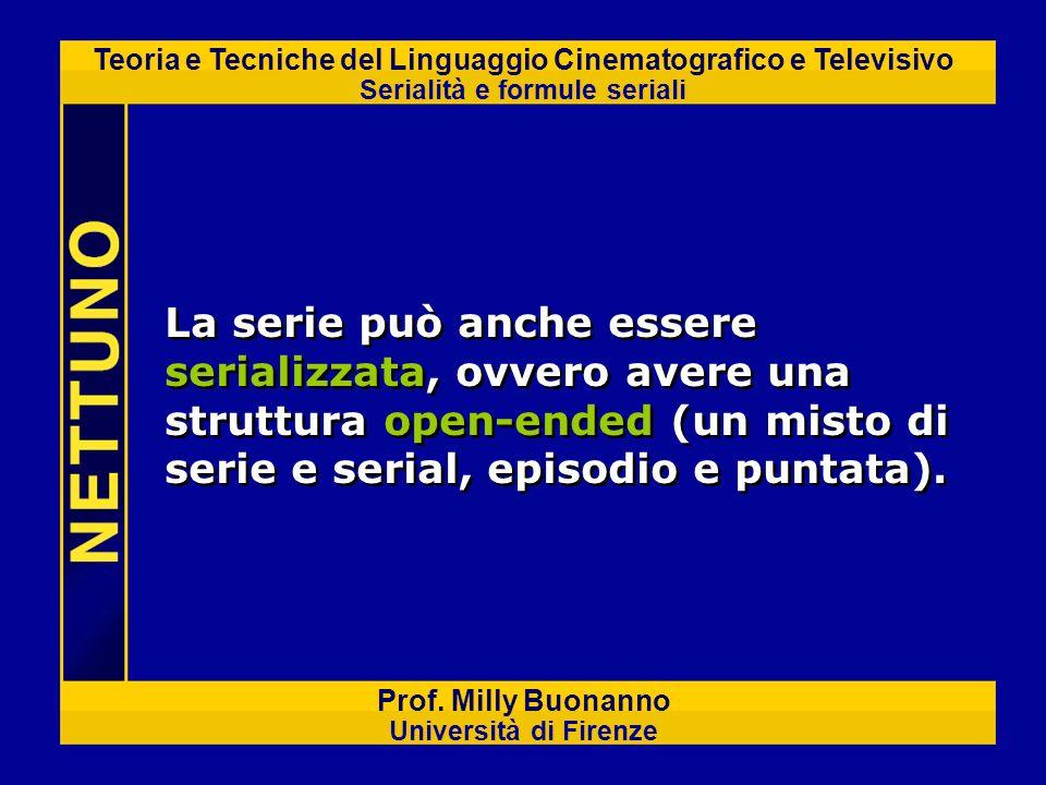 Teoria e Tecniche del Linguaggio Cinematografico e Televisivo Serialità e formule seriali Prof. Milly Buonanno Università di Firenze La serie può anch
