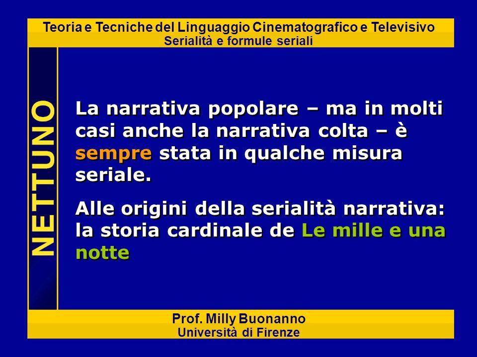 Teoria e Tecniche del Linguaggio Cinematografico e Televisivo Serialità e formule seriali Prof. Milly Buonanno Università di Firenze La narrativa popo