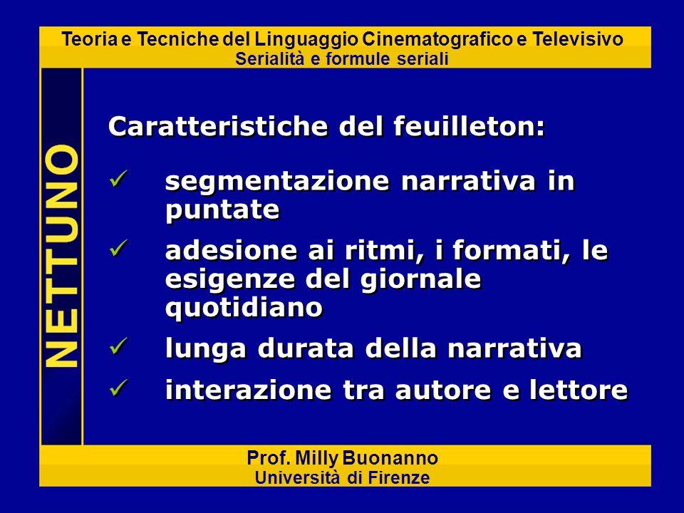 Teoria e Tecniche del Linguaggio Cinematografico e Televisivo Serialità e formule seriali Prof. Milly Buonanno Università di Firenze adesione ai ritmi